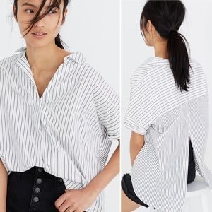 Madewell | Courier Button Back Stripe Play Shirt